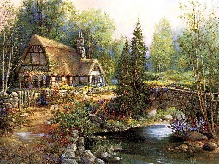 Cottage Glen - Counted cross stitch pattern in PDF format by Maxispatterns on Etsy