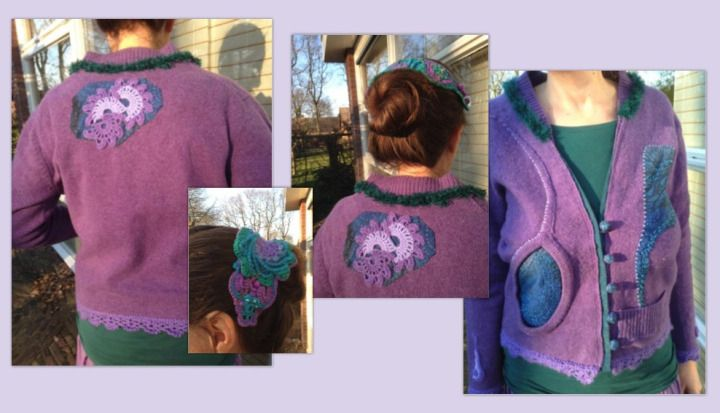 Refashion of an old pullover. For the whole creative proces, look at the website