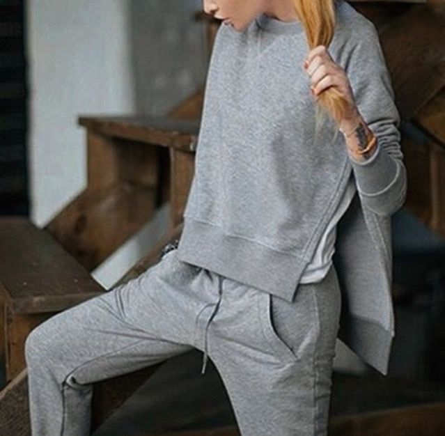 grey jogging wear... by Anastasyia Primavista