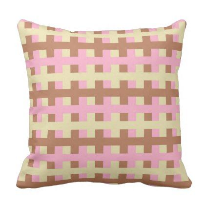 Abstract Pink Beige and Brown Throw Pillow - decor gifts diy home & living cyo giftidea