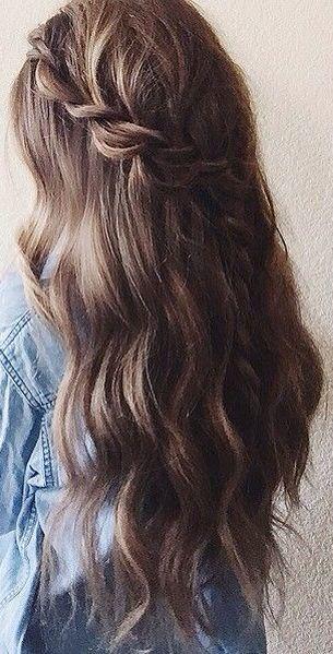 Highlights wavy hair with braid #gorgeoushair