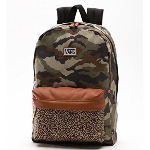 Vans Women's Deana II Backpack Camo Leopard Book Bag School bag