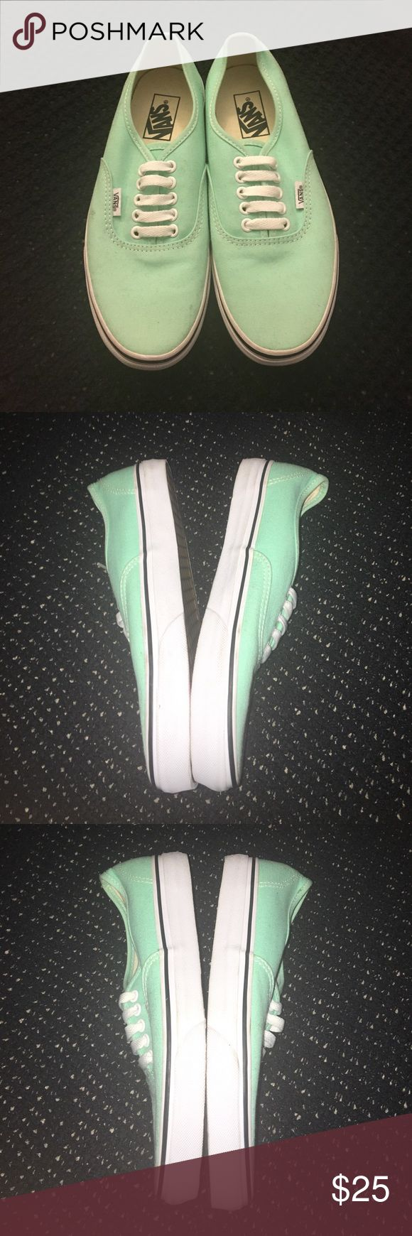 NEVER WORN MINT VANS new never worn mint green colored vans Vans Shoes Sneakers