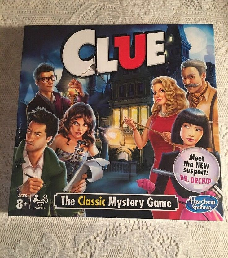 Clue Board Game Holiday Party Games Toys For Kids and Adult 2 to 6 Player Hasbro  | eBay