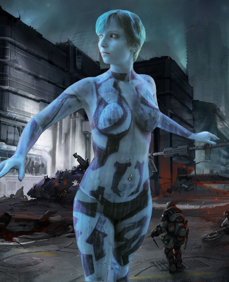 Impossible hot cortana cosplay please