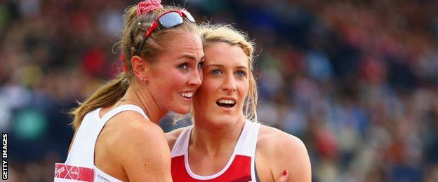 """Jessica Taylor, right, - England's heptathlete Jessica Taylor took bronze behind Canadians Brianne Theisen-Eaton and Jessica Zelinka. """"I've just finished my 7-year architecture degree as well, so ... it's the best year of my life.""""  http://www.telegraph.co.uk/sport/othersports/commonwealthgames/11001859/Commonwealth-Games-2014-Grenadas-Kirani-James-smashes-400m-record-in-his-own-inimitable-style.html"""