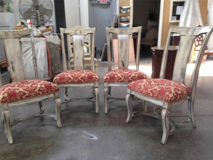 Set Of 4 Market Sample Thomasville Furniture Deschanel Side Chairs