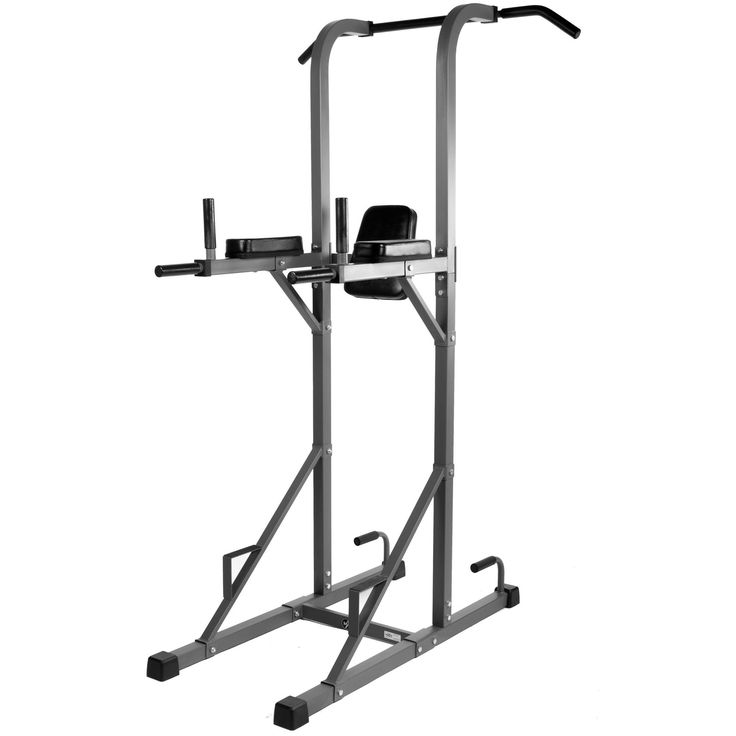 XMark Fitness Multi-Function Power Tower With Vertical Knee Raise, Dip Station, Push-Up station, and Pull-Up Station Featuring A Narrow and Wide Grip XM-4434