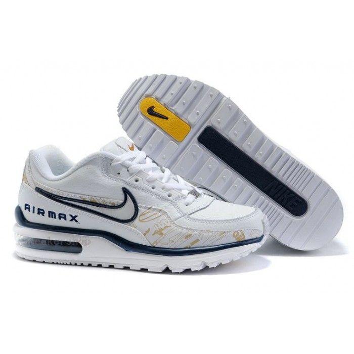 #Nike #sports Nike Shox Shoes, Nike Mens Shoes Buy Nike Air Max LTD Mens White Black Yellow 69