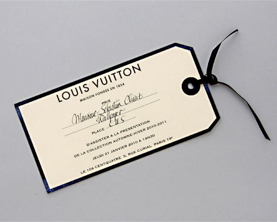 Louis Vuitton Fall 2010-2011 Invitation