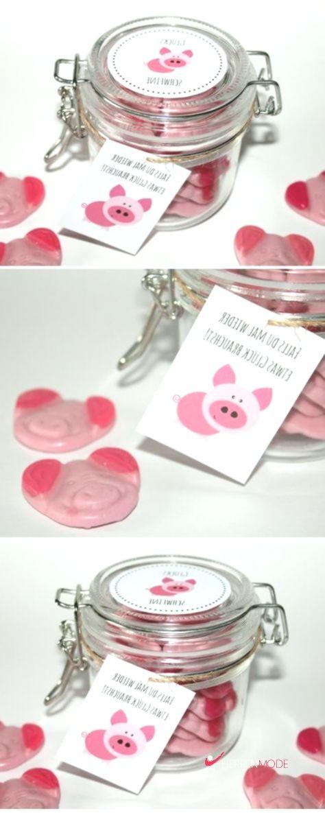 Brauchst du etwas Glück? DIY selbstgemachte Geschenke aus dem Glas – Glücksschweine – Herren Mode