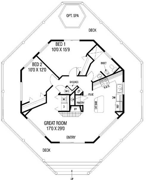 25 best ideas about octagon house on pinterest round for Octagonal building plans