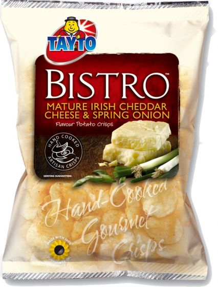 Food Ireland Tayto Bistro Cheese & Onion 50g (1.8oz) 5 Pack