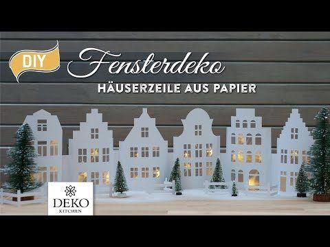 DIY: weihnachtliche Fensterdeko mit hübscher Häuserzeile aus Papier – Deko-K…