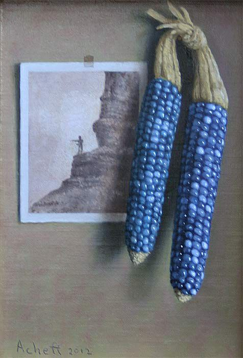 Turquoise Corn - by William Acheff