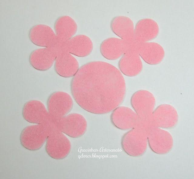 Tutorial Flores Feltro (2)   Gracinhas Artesanato