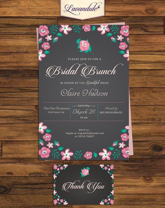 Bridal Brunch Chalkboard w/ Thank You Card for free by Lavandule