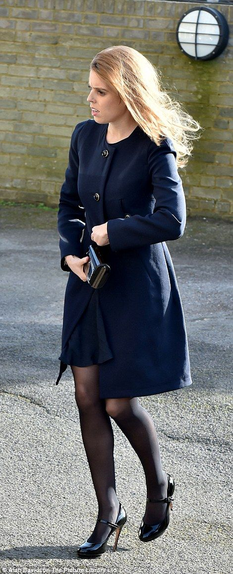 Princess Beatrice was seen comforting Mr Frost's family before the church service began