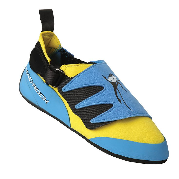 Youth 158980: Mad Rock Mad Monkey Kids Climbing Shoe - Size 12 - Blue/Yellow -> BUY IT NOW ONLY: $32.88 on eBay!