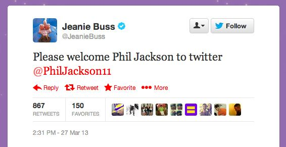 Phil Jackson Joins Twitter, Writes Gibberish First Tweet