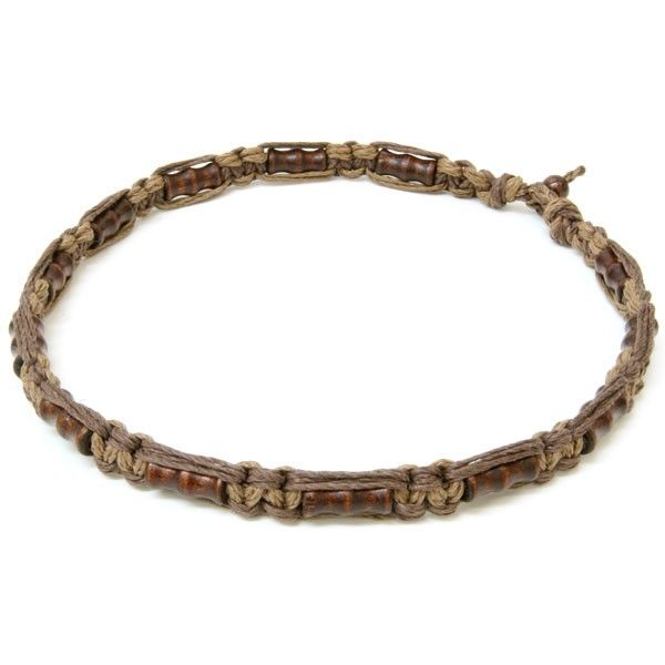 images of hemp jewelry  | Brown Ribbed Hemp Necklace - Hemp Necklace Store