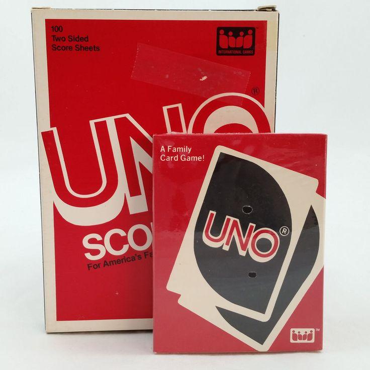 Vintage 80's UNO Game Sealed UNO Score Sheets Original Box 100 count #InternationalGames #ad