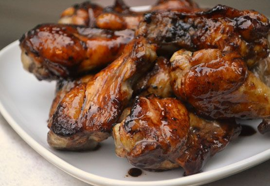 Sticky Lemonade Chicken Wings.....made with thawed lemonade concentrate, they're sweet and tangy, salty with soy sauce and garlicky