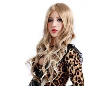 Material: Synthetic fiberType: Curly long hairMakes you look more charming and sexyFeatures light blonde colorNo pins or tape requiredCapless design is comfortable to wearSuitable for costume party, d..