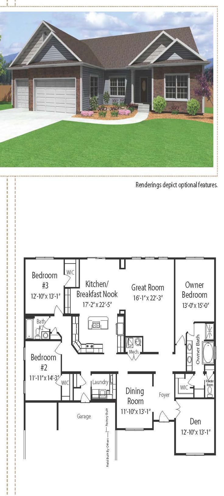 33 best the generations ranch home plan collection images on simple suburban ranch style home 2522 square feet this home includes two separate staggered garages the floor plan includes the great room and the