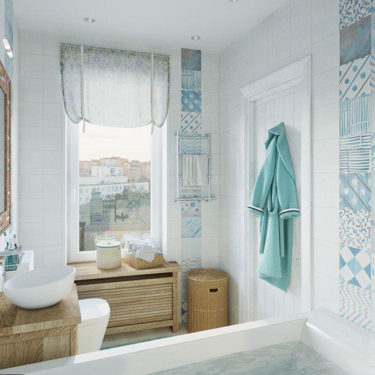 Из спальни можно попасть в основную ванную с бошьшим окном.