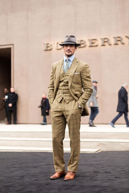 thenycstreets:  David Gandy at Burberry Men's AW15 - Bespoke...