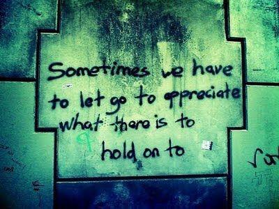 A veces tenemos que dejar marchar para apreciar lo que está a nuestro lado y así mantenerlo cerca.