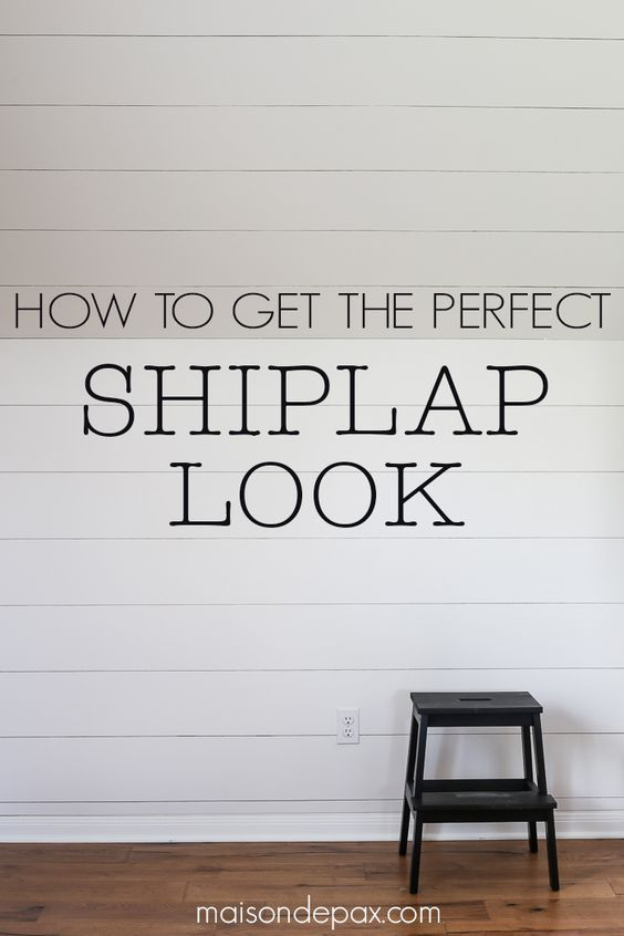 Get into a country mood and learn how to make a shiplap accent wall for your home!