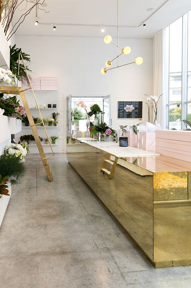 BLUSH - The purdiest interior design for a modern NZ florist:
