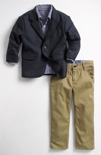 Sovereign Code 'United' Blazer, Shirt & Pants Set (Toddler) available at Nordstrom. So Cute!