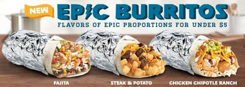 Epic Burritos from Del Taco