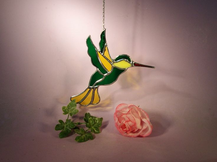 NFL Green Bay Packer Stained Glass Suncatcher Hummingbird (596) by StainedGlassbyWalter on Etsy