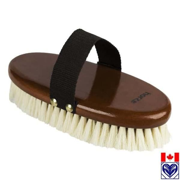 Soft Horse Brush with natural bristles. Keep you horse looking glossy with this soft brush