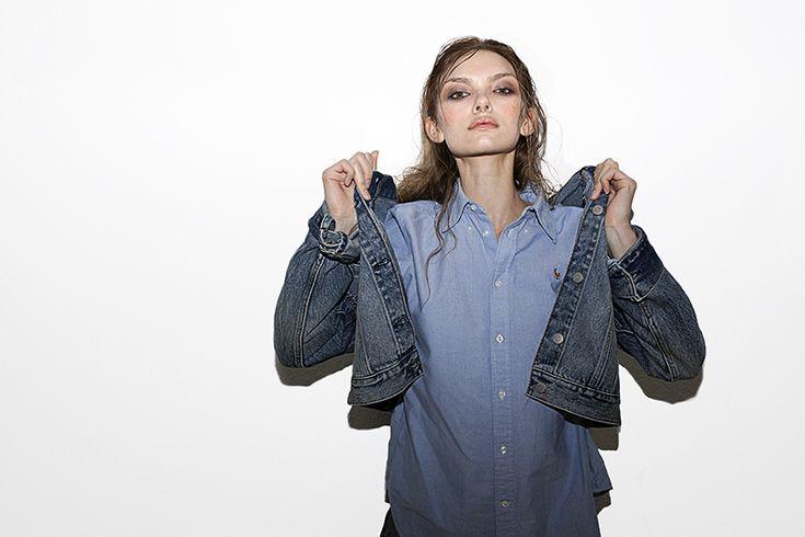 Denim Jacket: Weekday, Jeans: Weekday, Shirt: Ralph Lauren Polo