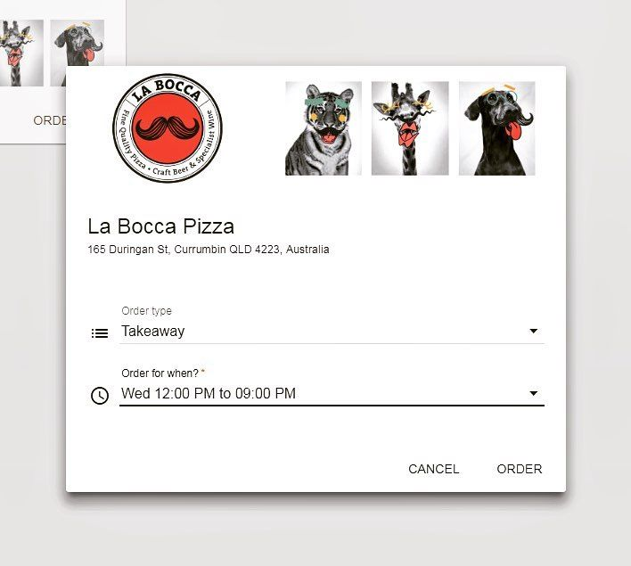 La Bocca is on Airservices | Download the AirService app for free through your App Store and start enjoying the convenience of this 'order online pick up later' process | Schedule it for your preferences and times and we will notify you once it's ready | Skip the queue today and download AirService next time you order La Bocca | This months pizza special is the 'La Carcifo' -$15 - Handmade base topped w/ mushrooms  mozzarella  artichokes  olives  ham  home made Napoli sauce…