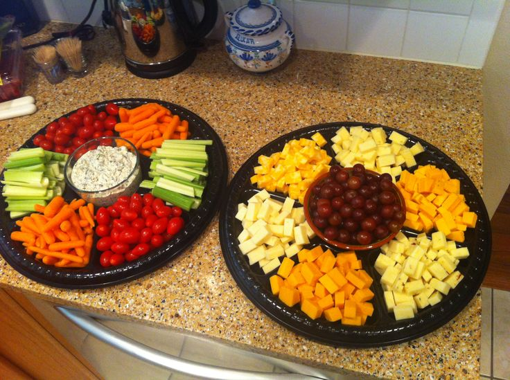 Finger foods - prepare these yourself and save $!! I found the trays at the Dollar Tree store ;)
