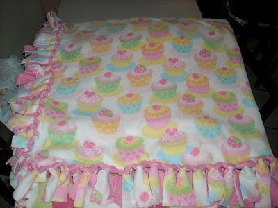 tied fleece blanket-different way to tie