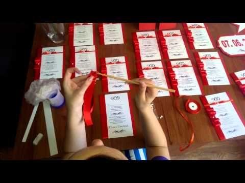 Приготовления к свадьбе своими руками - YouTube