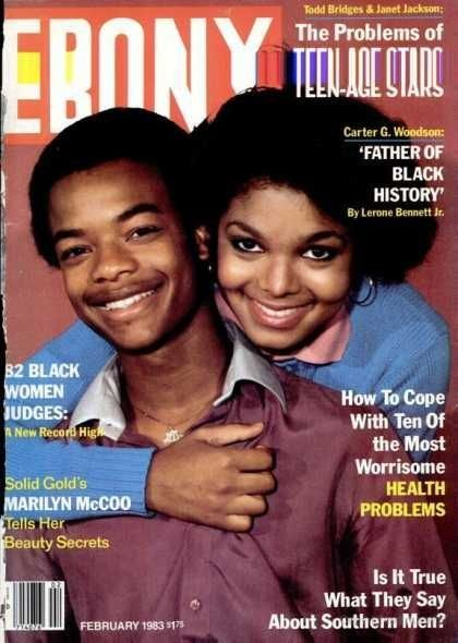 Ebony Magazine featuring Todd Bridges & Janet Jackson....they were my idols back in the day!