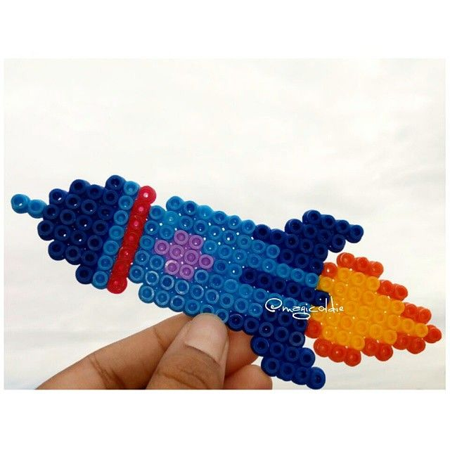 Rocket hama beads by magicoldie