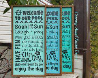 Personalized POOL RULES Rustic distressed by CountryAngelRustic