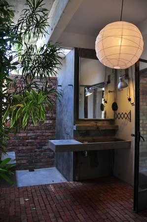 Outdoor bathroom by Seksan Ng
