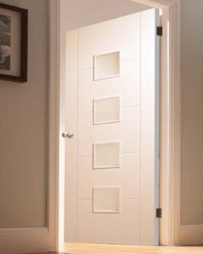 White Primed Florida 4 Light Internal Door #whitedoors