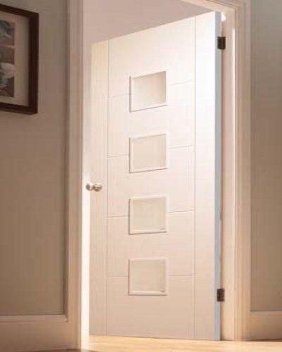White Primed Florida 4 Light Internal Door #whitedoors