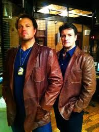 Castle promo- Alan Baldwin and Nathan Fillion - the truth about that brown coat